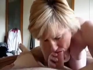 Blonde woman works on my shaft and lets me cum in her mouth