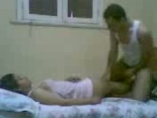 Amateur Egyptian wife undressed to be fucked missionary on camera