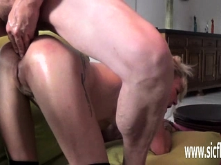 Dual going knuckle deep and gigantic fuck stick poked first-timer wifey