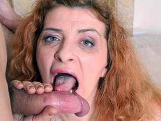 Grandmother Anya pounded hard On the bed