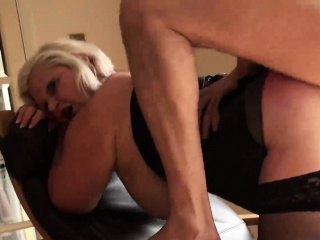 Sex therapist Lacey Star gets fucked in her granny ass
