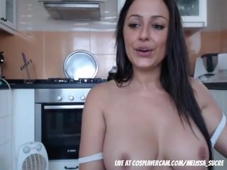 Step mom caught in the shower starting to show off