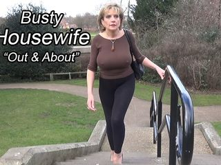 Busty Housewife Out And About