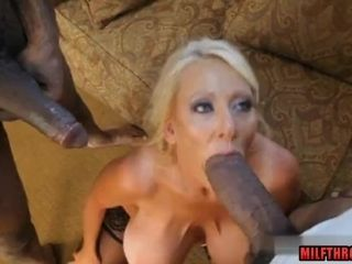 Humungous boobies cougar bi-racial with internal ejaculation