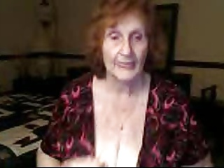 Granny shows me bra and cleavage in chat