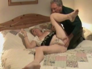 Hidden camera shows aged treated to oral pleasure sex.