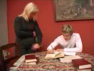 NOT his Mom helps him by Homework