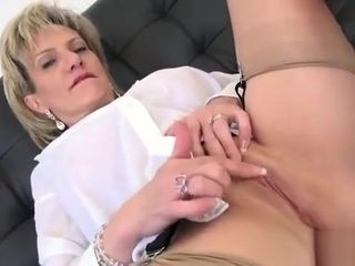 Unfaithful brit cougar female Sonia flashes Her hefty bumpers