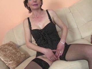 Mature skinny mother with hungry vagina