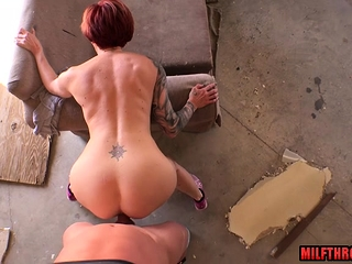 Monstrous bra-stuffers cougar point of view and jizz shot