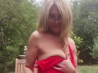Cougar taunt crimson sundress