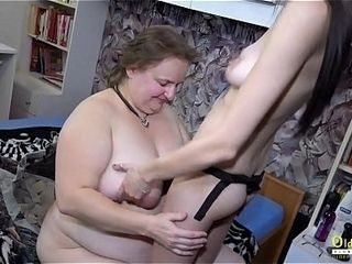 AgedNannY aged and youthfull lesbos plaything boinking