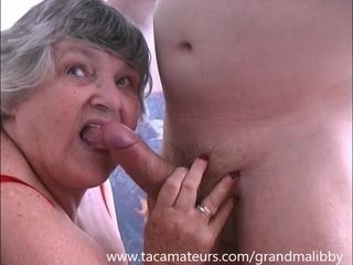 80 savoir vivre venerable Grandma Libby fucks youth pal